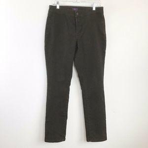 NYDJ 8 Brown Stretch Skinny Denim Jeans
